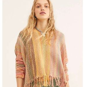 Free People Radiate Striped Pullover Sweater NWT